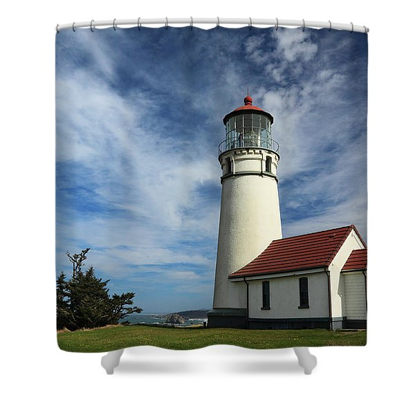 The Lighthouse At Cape Blanco Shower Curtain