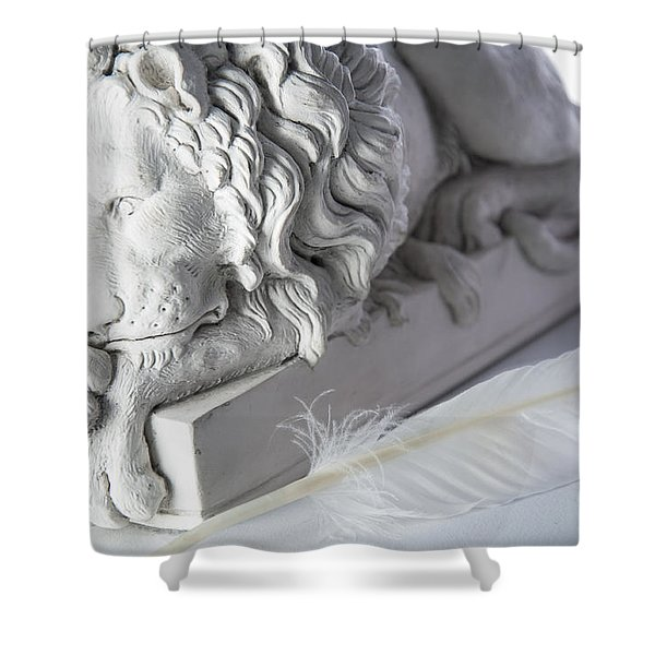 The Lion And The Feather Shower Curtain