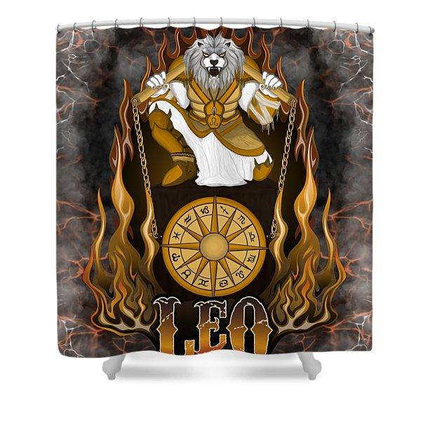 The Lion Leo Spirit Shower Curtain