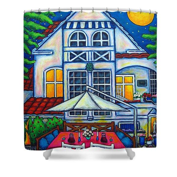 The Little Festive Danish House Shower Curtain