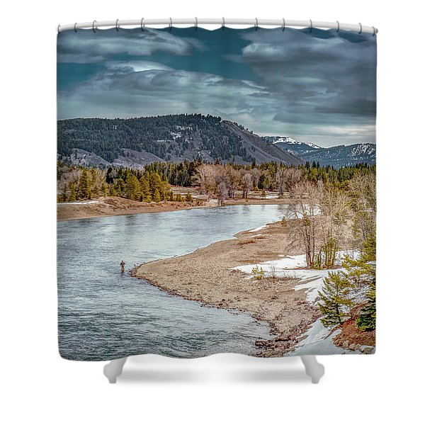 The Little Fisherman Shower Curtain