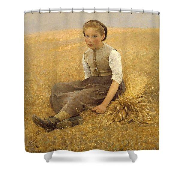The Little Gleaner, 1884 Shower Curtain