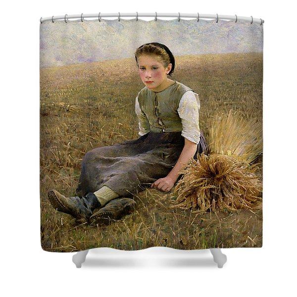 The Little Gleaner Shower Curtain