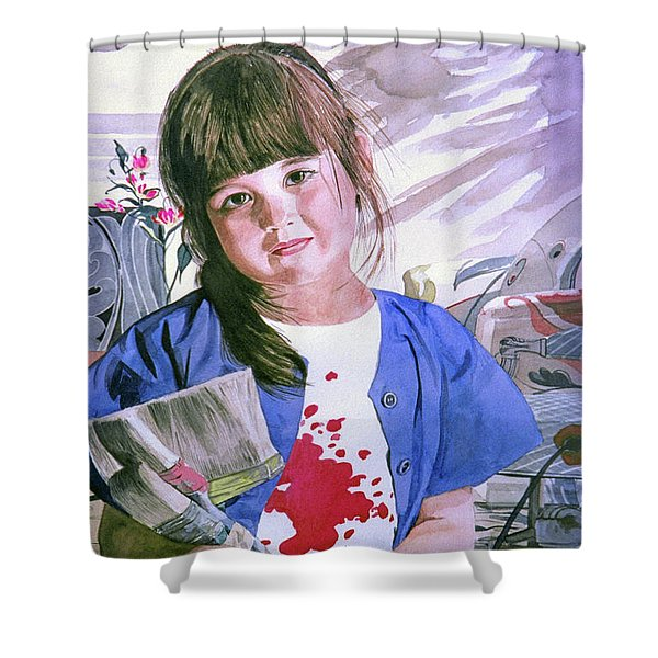 The Little Painter Shower Curtain