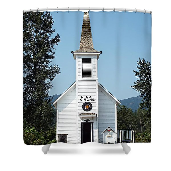 The Little White Church In Elbe Shower Curtain