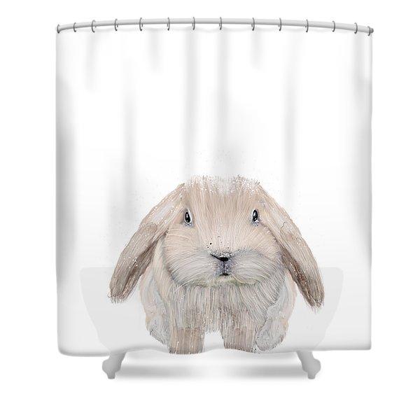 The Littlest Bunny Shower Curtain