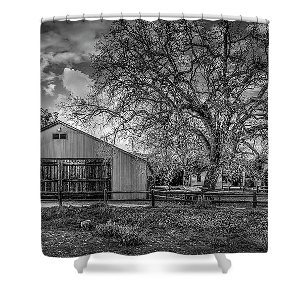 The Livery Stable And Oak Shower Curtain