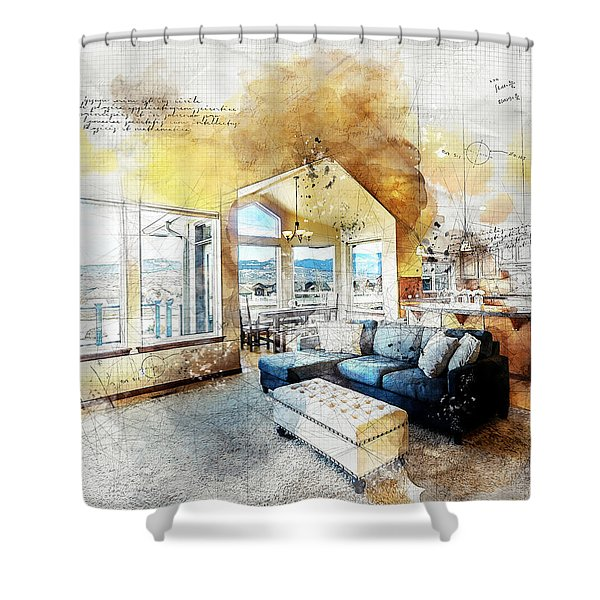 The Living Room Shower Curtain