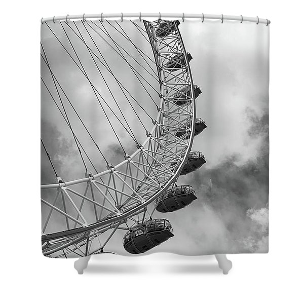 The London Eye, London, England Shower Curtain