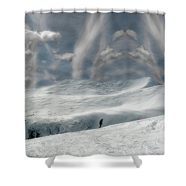 The Lone Boarder Shower Curtain