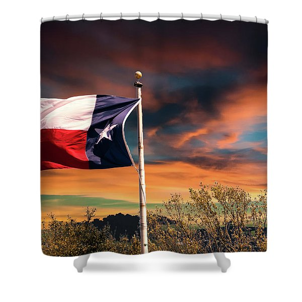The Lone Star Flag Shower Curtain