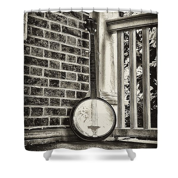 The Lonely Banjo Shower Curtain by Bill Cannon