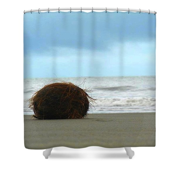 The Lonely Coconut Shower Curtain