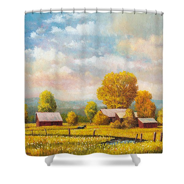 The Lonely Horse Shower Curtain