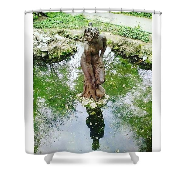 The Lonely Maid Statue Artwork Shower Curtain