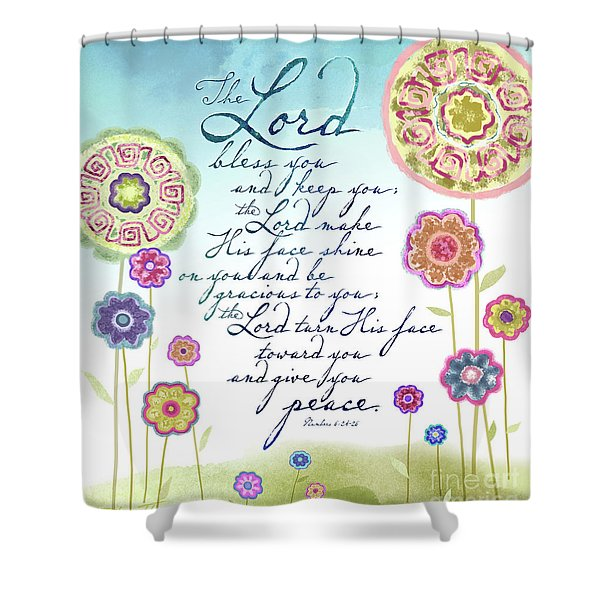 The Lord Bless You Shower Curtain
