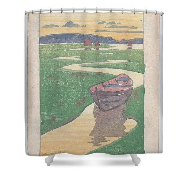 The Lost Boat , Arthur Wesley Dow Shower Curtain