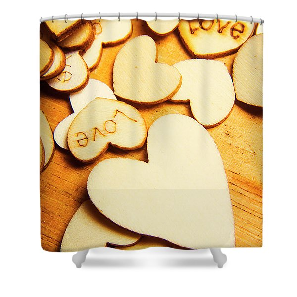 The Love Heart Scatter Shower Curtain