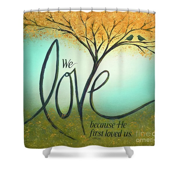 The Love Tree Shower Curtain