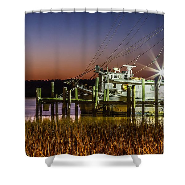 The Low Country Way - Folly Beach Sc Shower Curtain