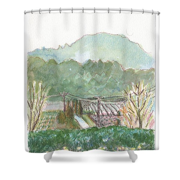 The Luberon Valley Shower Curtain