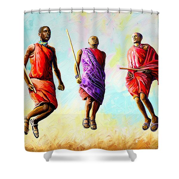 The Maasai Jump Shower Curtain