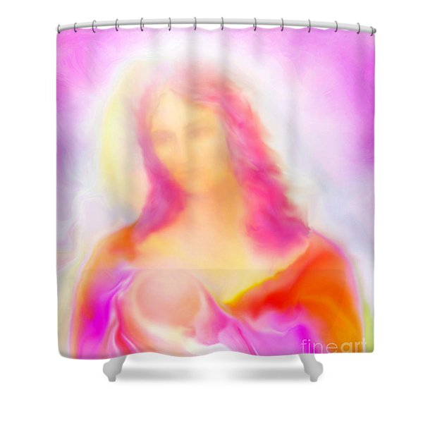 The Madonna Of Compassion Shower Curtain