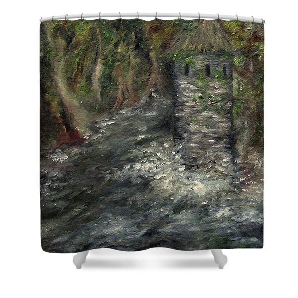 The Mage's Tower Shower Curtain