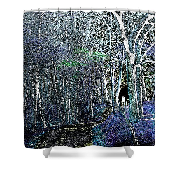 Shower Curtain featuring the photograph The Magical Woods by Gerlinde Keating - Galleria GK Keating Associates Inc