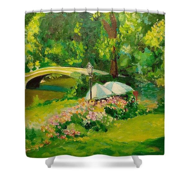 The Magnificent Bow Bridge Shower Curtain