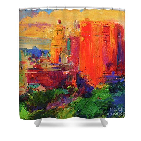 The Majestic, New York Shower Curtain