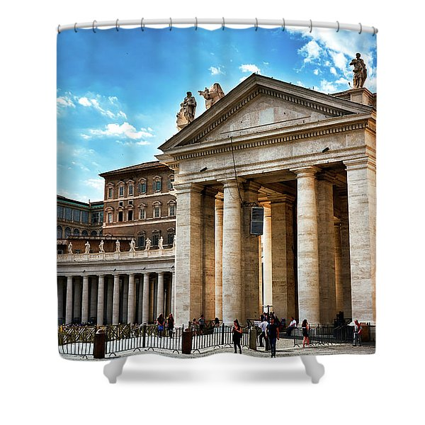 The Majesty Of The Tuscan Colonnades Shower Curtain