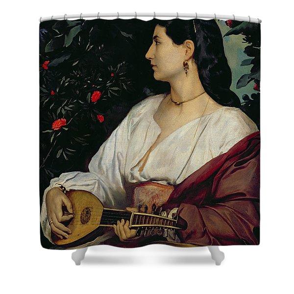 The Mandolin Player Shower Curtain