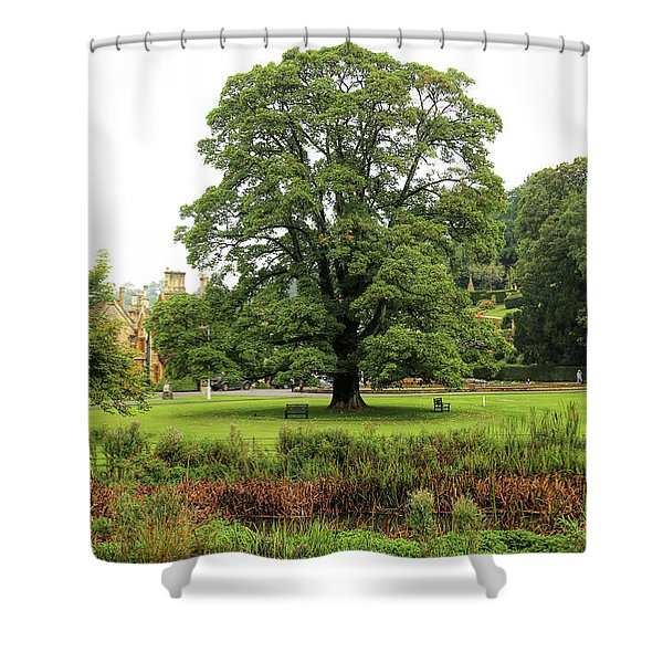 Shower Curtain featuring the photograph The Manor Castle Combe by Michael Hope