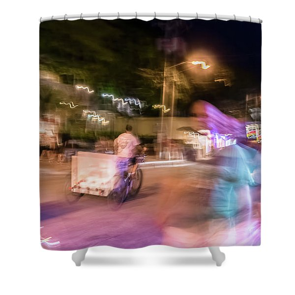 The Many Moods Of Duval Street Shower Curtain