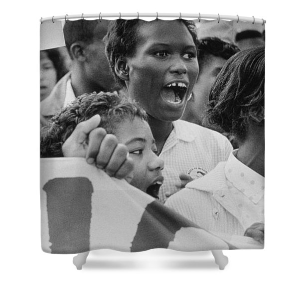 The March On Washington   A Group From Detroit Shower Curtain