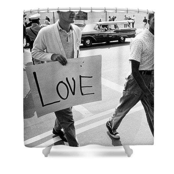 The March On Washington   Love Shower Curtain