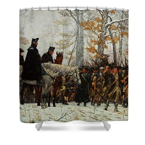 The March To Valley Forge, Dec 19, 1777 Shower Curtain