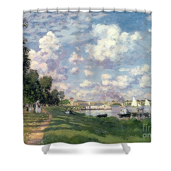 The Marina At Argenteuil Shower Curtain