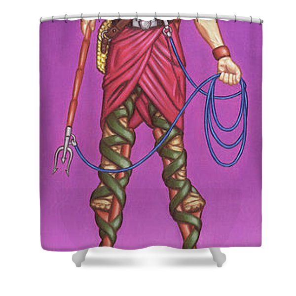 The Marsh Runner Shower Curtain
