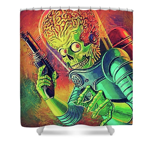 The Martian - Mars Attacks Shower Curtain