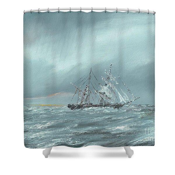 The Mary Celeste Adrift December 5th 1872 Shower Curtain