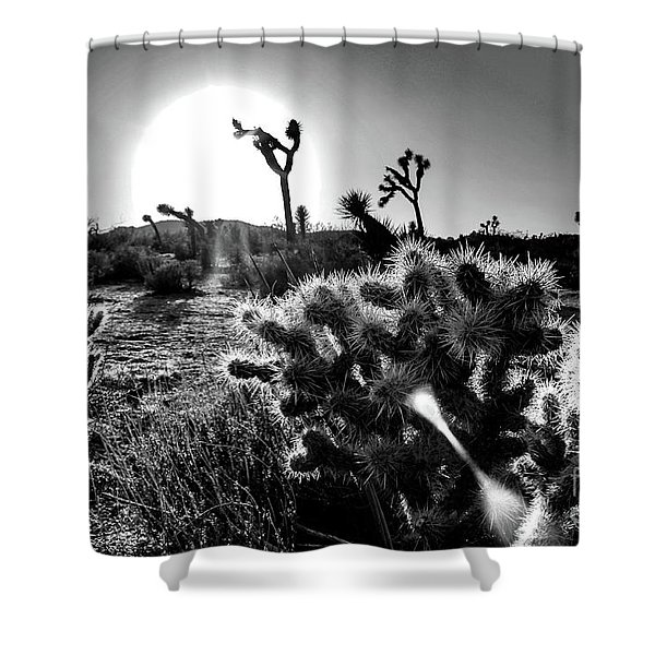 Merciless, Black And White Shower Curtain