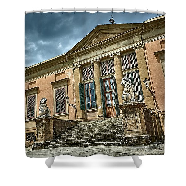 The Meridian Palace In The Pitti Palace Shower Curtain