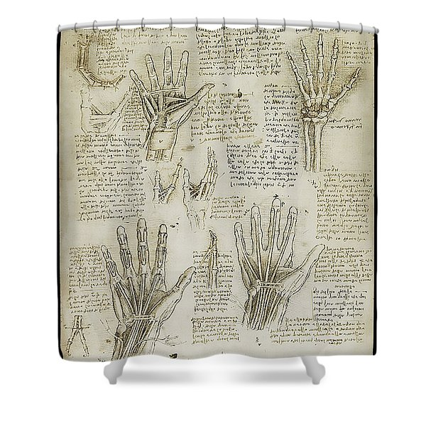 The Metacarpal Shower Curtain