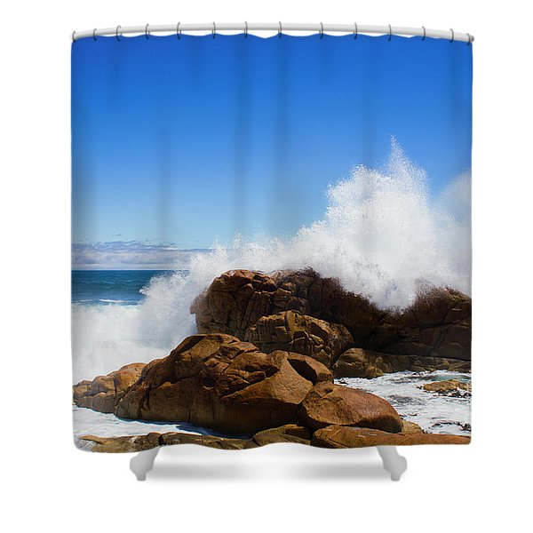 The Might Of The Ocean Shower Curtain