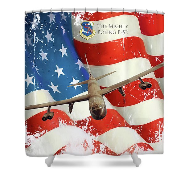 The Mighty B-52 Shower Curtain