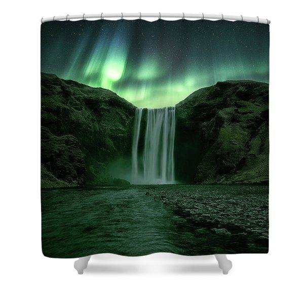 The Mighty Skogafoss Shower Curtain