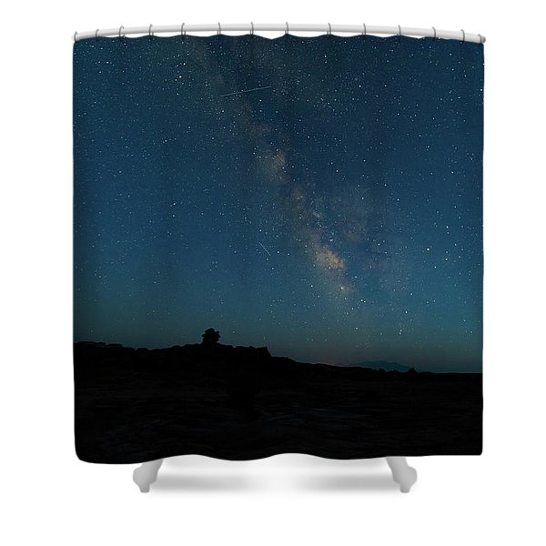 The Milky Way At Goblin Valley Shower Curtain