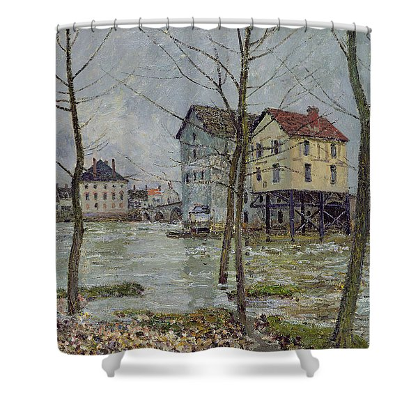 The Mills At Moret Sur Loing Shower Curtain